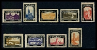Lot 53:Germany: 1920 Lost Territories mourning set of 9.