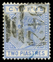 Lot 3390:1881 Wmk Crown/CC SG #13 2pi blue, Cat £35.