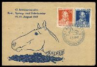 Lot 20161 [1 of 2]:1947 Von Stephan: pair on Aachen International Horse Show illustrated cover
