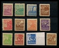 Lot 22691:1946 Pictorials: Mi #20-40 simplified set of 12, Cat €30.