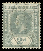 Lot 3645:1912-24 KGV Wmk Mult Crown CA SG #14 2d greyish slate, Cat £26.