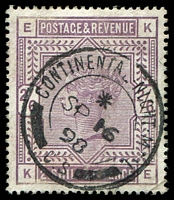 Lot 3662:1883-84 QV High Values SG #178 2/6d lilac, Cat £160, with fine 1898 CONTINENTAL NIGHT MAIL cds.