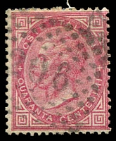Lot 24004:206: of Roma on 1863 40c rose.