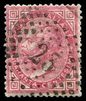 Lot 4246:23: '23' of Pavia on 1863 40c rose.