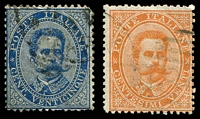Lot 4214 [2 of 3]:1879 Umberto I SG #31-6 5c to 50c, Cat £34. (5)