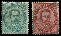 Lot 4214 [3 of 3]:1879 Umberto I SG #31-6 5c to 50c, Cat £34. (5)