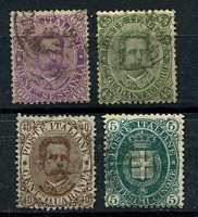Lot 4215 [2 of 2]:1889 Umberto I SG #38-42 5c to 1L, Cat £69. (5)