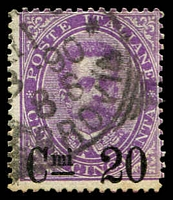 Lot 4216 [1 of 2]:1890-91 Surcharges SG #45-46 20c on 30c brown & 20c on 50c mauve, Cat £67.