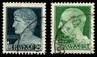Lot 3717 [2 of 2]:1929-42 Imperial Defins SG #257-9 20L, 25L & 50L, Cat £109.