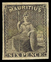 Lot 3929:1859-61 SG #33 6d dull purple-slate 4 nice margins, MNG, Cat £40.