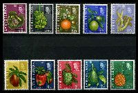 Lot 3903:1969-70 Pictorials SG #213-32 complete set of 10, 3c is Wmk crown to right of CA (Cat £25), Cat £38.