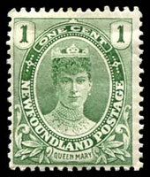 Lot 4252:1897 Discovery SG #117 1c yellow-green, Cat £10.