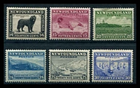 Lot 4111:1932 Pictorials SG #216-20 14c to 30c, Cat £50+. (6)