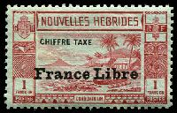 Lot 26249:1941 France Libre SG #FD81 1f lake/pale green, Cat £22.