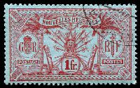 Lot 3955:1913 Wmk RF SG #F30 1f red/blue, Cat £10.