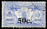 Lot 3956:1924 Surcharges SG #F41 50c on 25d wmk 'RF, Cat £21.