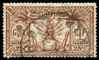 Lot 3958:1925 Multi Currency SG #F45 25c (2½d) brown.