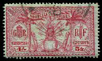Lot 4406:1925 Multi Currency SG #F52 5f (4/-) carmine/green.