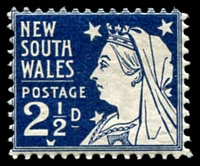 Lot 909:1897-99 Jubilee Wmk 2nd Crown/NSW SG #297b 2½d Prussian blue Die II P12.