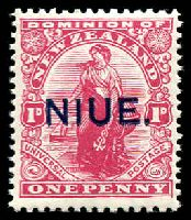 Lot 4015:1917-21 Overprints SG #24 1d Universal P14x15, Cat £10.