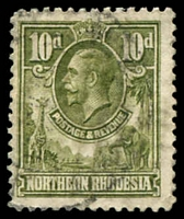 Lot 23850:1925-29 KGV SG #9 10d olive-green, Cat £50.