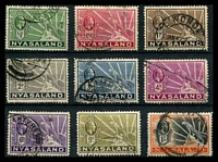 Lot 4142:1934-35 Leopard SG #114-22 complete set of 9, Cat £35.