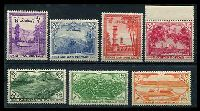 Lot 26371:1954 7th Anniv Independence SG #65-71 complete set of 7, 6p crease, MUH, Cat £22.