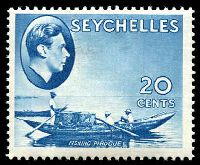 Lot 4350:1938-49 KGVI Pictorials SG #140 20c blue, Cat £45.