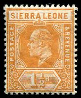 Lot 4357 [2 of 2]:1907-12 KEVII New Colours SG #101,105 1½d orange & 4d black & red/yellow. (2)