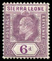 Lot 27969:1907-12 KEVII New Colours SG #107 6d dull & bright purple, Cat £22.