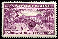 Lot 27971:1938-44 KGVI Pictorials SG #191 2d mauve, Cat £50.