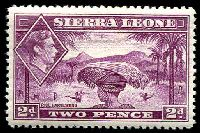Lot 4358:1938-44 KGVI Pictorials SG #191 2d mauve, Cat £50.