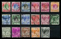 Lot 27994:1948-52 KGVI Defins Perf 17½x18 SG #16-29 set to $2, Cat £58. (17)