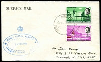 Lot 4633:Mono: double-oval 'MONO POSTAL AGENCY/24FEB1970/TREASURY ISLAND B.S.I.P.