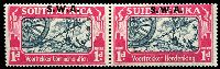 Lot 25489 [2 of 2]:1938 Opts on Voortrekker SG #109-10 1d & 1½d in pairs, Cat £38.