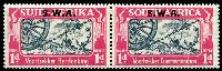 Lot 28455 [2 of 2]:1938 Opts on Voortrekker SG #109-10 1d & 1½d in pairs, Cat £38.