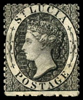 Lot 27800:1864-76 Wmk Crown/CC Perf 12½ SG #11 (1d) black, MNG, Cat £28.