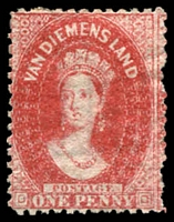 Lot 1801:1863-71 Chalon Wmk Double-Lined Numeral Walsh & Sons Perf 12 SG #70 1d carmine perf 12, MNG, Cat £110.
