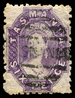Lot 10037:1863-71 Chalon Wmk Double-Lined Numeral Walsh & Sons Perf 12 SG #76 6d reddish mauve, Cat £42.