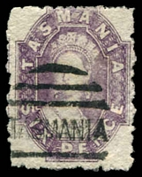 Lot 1945:1871-91 Chalon Wmk Double-Lined Numeral Perf 11½ SG #138 6d bright violet, poor perfs, Cat £35.