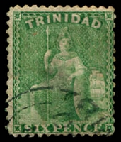 Lot 29044:1863-80 Britannia Wmk Crown/CC Perf 12½ SG #72 6d emerald-green, Wmk double-lined 'N'.