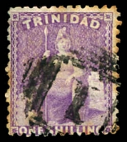 Lot 4217:1863-80 Wmk Crown/CC Perf 12½ SG #73 1/- bright deep mauve, couple of light tones, Cat £11.