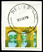 Lot 14847:Rangeview: - 'RELIEF/29SE78/NO 25.' on 5c on piece [Used 20/6/78 to 28/5/79.]  PO 15/9/1955; LPO 29/10/1993.