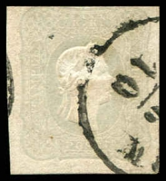 Lot 3676:1861 Franz Josef: SG #N38 (1k05) grey 3 good margins, 1 touching, Cat £225.
