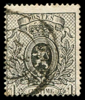 Lot 3751:1866-67 Small Lion, Perf 15 SG #43 1c grey, Cat £18.