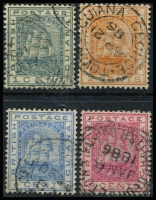 Lot 3726 [2 of 2]:1882 Ship Wmk Crown/CA SG #170-4 complete set, Cat £11. (5)