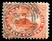 Lot 3208:1859 Decimal Currency SG #32 5c deep red, Cat £22.
