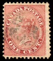 Lot 3207:1859 Decimal Currency SG #30 1c deep rose, Cat £70.