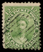Lot 3209:1859 Decimal Currency SG #39 12½c deep yellow-green, Cat £70.