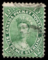 Lot 3760:1859 Decimal Currency SG #41 12½c blue-green, Cat £85.